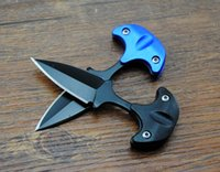 Wholesale Fox Style - Newest Cold steel style URBAN PAL 43LS small Fixed blade knife Fox karambit pocket knife tactical knife with K sheath and necklace B283L