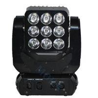 luz de la etapa cegadora al por mayor-Moka MK-M25 2pcs / lot 3 * 3 RGBW Matriz de cabeza móvil Matriz de luz Blinder Stage Light DJ Stage Light con estuche de vuelo