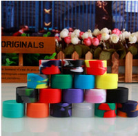 Wholesale 7ml Nonsolid Color Wax Dry Herb Jars Dab Round Shape Silicone Container for Dry Herb Atomizer Oil Wax E Cigarette