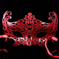 Wholesale Costume Masks Feathers - 2017 New Arrival Limited Slipknot Mascaras Masquerade Hollow Mask Costume Party Halloween Christmas Women Sexy Masks Half-face Lace for Ball