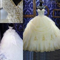 Wholesale Gorgeous Beaded Wedding Dress Cathedral - 2015 Vintage gorgeous Ball Gown tulle Wedding Dresses with Sweetheart Crystals Beaded and Lace Bow Cathedral Train Bridal Gowns ZG0002
