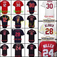Wholesale Baseball Joe - Men's #12 Francisco Lindor 28 Corey Kluber 24 Andrew Miller jersey stitched 10 Edwin Encarnacion 30 Joe Carter Baseball Jerseys