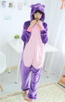 Wholesale Onesie Anime - Wholesale-Unisex Anime Sailor Moon Luna Cat Diana Purple Pajamas onesie Costume Cosplay Cute Style free shipping