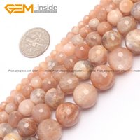 """Wholesale Bead Sun - Wholesale-Round Faceted Sun Stone Beads Pretty Fashion Jewelry Beads Jewelry Making Diy Bracelet Necklace Strand 15"""" Free Shipping"""