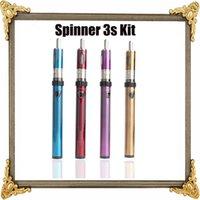 Wholesale Ego Pt Batteries - E Cigarette Starter Kit Vision Spinner 3S Kit Spinner IIIS PT Battery 1600mAh VV Battery Vapor Atomizer VS Evod Mega Kit Ego One