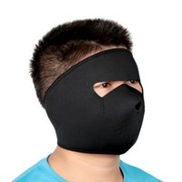 Wholesale Neoprene Mask Cover - New 3 Hole Winter Mask Ski Outdoor Sports Cold Weather Cap Head Cover Hood Protecting Cycling Full Face Neoprene Knitting Hat Y1521