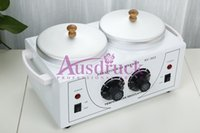 Wholesale used wax - New Wax Warmer DOUBLE pots Heater Paraffin Salon Use Skin Care Spa Machine