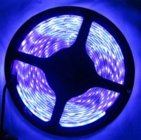5M 16.4ft UV LED Strip 395nm 3528 SMD Purple 300 LED Flex Strip Light Non-imperméable LED Light 12V