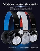 Wholesale Sport Wireless Headphones Usb - Bluetooth Headphone Headset Wireless Stereo Earphone Best Quality Bluetooth Version 4.1 Mini Wired Headset Brand Mp3 Music Sport Earphones