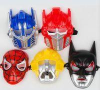 Wholesale Optimus Prime Face Mask - Children parties decorative masks Batman mask Optimus Prime Transformers Bumblebee Child Spiderman mask JIA175