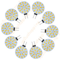 Wholesale Rv Energy - 10pcs G4 18 2835 SMD LED Car RV Boat Light Lamp Bulb Warm White Energy Saving 12V for good price free shipping