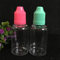 Wholesale 1oz Plastic Dropper Bottle - 2016 Hottest sale Dropper Bottle 30ml Capacity Plastic PET Child Proof Caps & Thin Tips Safe clear E Liquid Dropper Bottles 1OZ free DHL