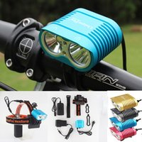 Wholesale Lumens Bike Battery - Uniquefire Bicycle Light 5000-Lumens 3-Modes Bike Light Headlight Head Lamp and 8.4v 8800mAh waterproof Battery Pack & Charger Free Shipping