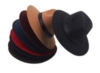 Wholesale Toppers Hats Wholesale - Wholesale-Fashion Vintage Autumn Winter Men & Women Knight Woolen Wool Felt Bowler Hat cowboy Warm Bucket Hats & Caps Retro Topper