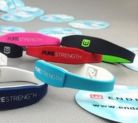 Wholesale Silicone Power Bracelet Band - Silicone endevr Pure Strength Power Bracelets LifeStrength Fresh Silicone Bands Energy Wristbands 7 Colors 3 Sizes Free Shipping