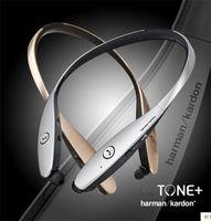 Wholesale Headband Hard - HBS 900 HBS-900 Wireless Sport Neckband Headset Hard Cover In-ear Headphone Bluetooth Stereo Earphones Headsets 30pcs