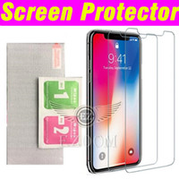Para Iphone X 8 7 6Plus Ultra fino 0.26mm Protetor de tela de vidro temperado Premium 2.5D para Samsung s6 s7 NOTA 5 J7 Film Cleaning Kit
