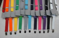 Wholesale Elastic Folder - Children Baby Multi-color Option 3 Clip Y Shape Shoulder Belt Kids Solid Adjustable Suspender Elastic Brace Boys Girls Pants Folder I1363