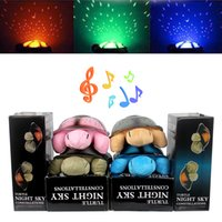 Wholesale Turtles Projector - With 4 Light Music Turtle Lamp Moon and Stars Projector for Baby Children High Quality Toys Cute Design Led Night Light