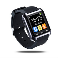 Wholesale Iphone Mtk Phone - NEW Bluetooth Smart Watch MTK WristWatch U80 watch sport for iPhone 4 4S 5 5S 6 Samsung S5 S4 Note 2 Note 3 HTC Android Phone