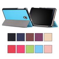 colores de la pestaña galaxia al por mayor-Tablet PC Pad casos Auto Sleep Wake piel plegable magnética Kickstand para Samsung TAB A S3 9.7
