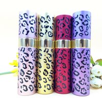 Wholesale Metal Perfume Vials - Leopard Color Empty Perfume Bottle 20ml Travel Refillable Makeup Perfume Atomizer Women Fragrance Scent Vials DC757