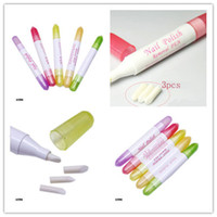 Wholesale Nail Art Polish Corrector Remover - Hot Manicure Nail Art Polish Corrector Remover Cleaner Pen + 3 Replacement Tips free shipping DHL 4006