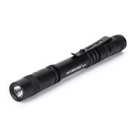 Wholesale Pocket Led Flash Lights - NITEKING P357 Mini Flash Light CREE LED Flashlight Belt Clip Pocket Torch Portable Flash Torch Lamps,Use AAA battery flashlight
