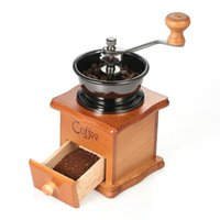 Coffee Maker Burr Grinders Manual Mini Wooden Manual Coffee Bean Grinder Burr Spice Mill Corn Coffee Grinding Machine for Home Kitchen Appliances