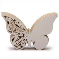 50x Paper Laser Cut Butterfly Nome tavolo Place Escort Card Bicchiere di vino Carte Cup Card Wedding Bridal Shower Party Decorations