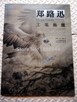 Wholesale Tattoo Flash Sketches - Wholesale-Free shipping Hawk Eagle Falcon Chinese Painting Tattoo sketch Flash Reference China Book B