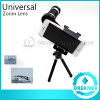 Wholesale Posting Kit - 1x Extra 8x Zoom Telephoto Phone Lens For iPhone 6 6plus 5s 5 4s 4 Samsung S6 S5 Optical Telescope Camera Kit + Mini Tripod Global Post