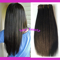 Wholesale Yaki Hair Prices - 7A unprocessed Malaysian Virgin Yaki Straight Human Hair Weaving Weft Extensions Wholesale Prices Light Yaki Remy Hair Wefts 8-30Inch Stock