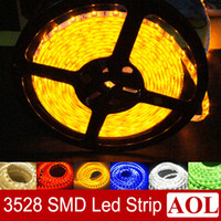 Wholesale Waterpoof Strip Led Light - Good price SMD 3528 Flexible LED Strip Lights Single color 60leds per meter waterproof IP65 & non-waterpoof Car Home Garden Bar