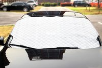 Wholesale Sun Shade Cover Windows - New Arrive Car Window Sunshade Car Snow Covers For SUV Ordinary Car Sun Shade Reflective Foil Car Windshield Snow Blocked