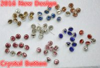 Wholesale Decoration Diamond For Dress - Free shippment!100pcs lot Diamond button crystal 9mm flower claw sew on button for clothing Tshirt coat hat dress decoration