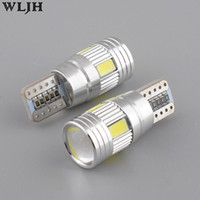 Wholesale Vw Plate Light - WLJH Canbus LED T10 W5W 5630 SMD For VW Golf 5 6 Polo Jetta Bora Passat 3C CC B7 Tiguan BMW Benz AUDI