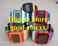 Wholesale Shhors Digital - Unisex Luxury LED Light Digital Watch Dual Electronic Colorful Candy Gel Jelly Resin Dive Mens Women's Shhors Stamps Ladys Watches