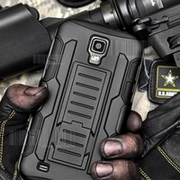 Wholesale Galaxy S4 Active Hard Case - Wholesale-Future Armor Impact Hybrid Hard Case For Samsung Galaxy S4 i9500   S4 Active i9295   S4 Mini i9190 Cover Stand + Flim + Stylus
