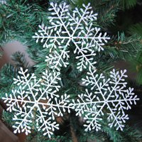 Wholesale Decorative Listing - 2015 New Listing 15cm Plastic Snowflake Christmas Decorations Hotel Window Dance Festival Hall Decorative Supplies 072