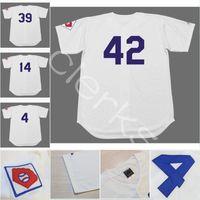 Wholesale 1951 S - Customized 1951 Brooklyn LAD 42 Jackie Robinson 4 Duke Snider 39 Roy Campanella 14 Gil Hodges 1 Pee Wee Reese Throwback Baseball Jerseys