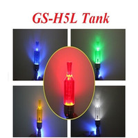 Wholesale Ego Led Cartomizer - GS-H5L Atomizer Clearomizer Colorful GS-H5L Tank with LED Light for eGo T eGo Twist eGo C EVOD Cartomizer