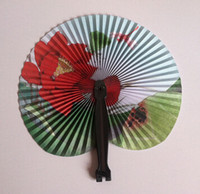 New Arrive Hioliday Sale Event Party Supplies Papier Hand Fan Wedding Decoration