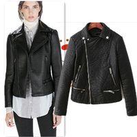 Wholesale Cheaper Women Coats - Brand Bomber Leather jackets women designer outerwear women coat cheaper sale jaqueta couro biker jacket jaqueta feminina FG1510
