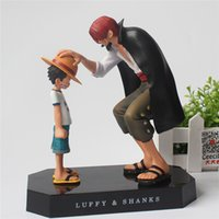 170617 QIUCHANY Anime One Piece Luffy und Shanks ornamente Figurine Kind Luffy Modelle Abbildung Pvc Sammlung Spielzeug PVC 18 CM Action-figuren