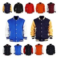 Wholesale College Baseball Uniforms - East Knitting 2016 Premium Varsity College Letterman Baseball Jacket Uniform Jersey Hoodie Hoody US M L XL XXL