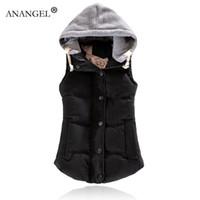 Wholesale female jacket sizes - Wholesale-Fashion Design Autumn Winter Coat Women Ladies Gilet Colete Feminino Casual Waistcoat Female Sleeveless Jacket Vest Plus Size