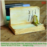 Wholesale Kids Resin Crafts - Everyday Collection Diy Miniature Resin Book Frog Accessories 3 D Micro Landscape Fairy Garden Decor Resin Craft Gift For Kid