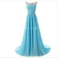 Wholesale Evening Dress Elegant Price - Cheap Price Vestido Do Baile Chiffon Long Prom Dresses 2015 Pleat Elegant Royal Blue Evening Dress Vestidos De Festa