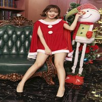 Wholesale Christmas Work Suits - Annual New Years day Costumes Long Sleeve Christmas Suit Sexy Christmas Clothes Tow Color Bar Work Suit DS Suit